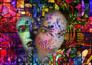 esquizofrenia personalidad rostros psicodelia